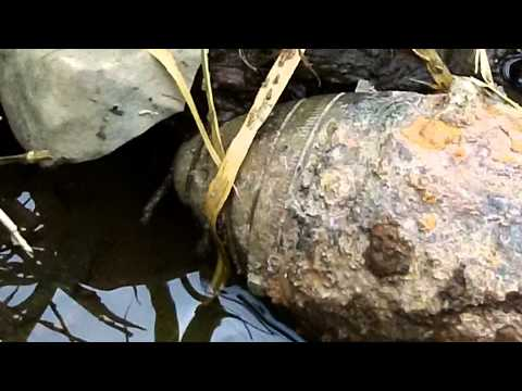 Artillery shell/ UXO found in the Black river near Fort Drum NY