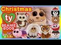 TY BEANIE BOO, Christmas Plush Dolls, Ornaments, Keychains - Cube Santa Doll