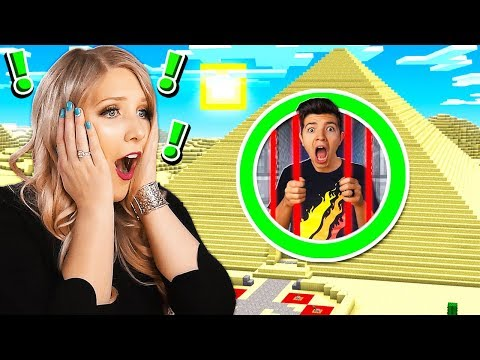 TRAPPED IN MINECRAFT PYRAMID PRISON! *WIFE IS SCARED*