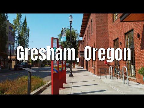 Downtown Gresham, Oregon 4k Walking Tour