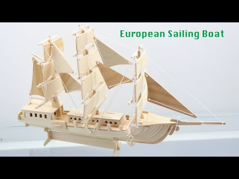How to Assembly the Woodcraft Construction Kit European Sailing Boat