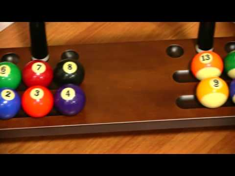 Pool Table Billiards Accessory Cue & Billiard Ball Floor Rack