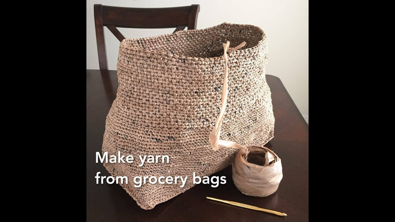 Making Plarn Plastic Yarn From Grocery Bags To Crochet Into Totes And Recycle Upcycle By Gemfox
