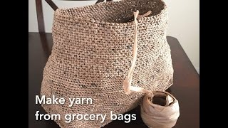 Making Plarn Yarn from HDPE Grocery Bags to Crochet With Totes Bags Etc Recycle Upcycle GemFOX