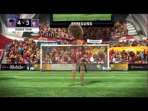Kinect Sports soccer futbol match starring TrinityQiTrance Xbox 360 720P gameplay