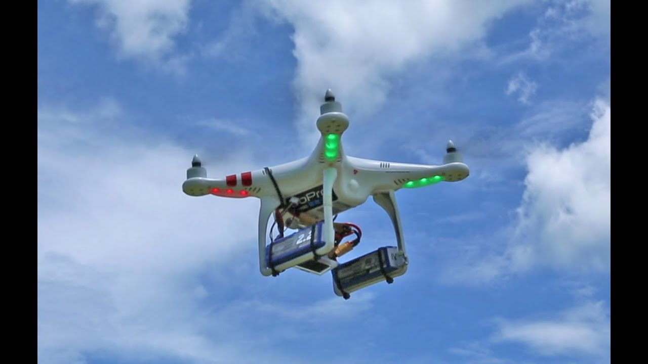 Dji phantom triple lipo battery load over 20 mins flight for Dji phantom motor upgrade