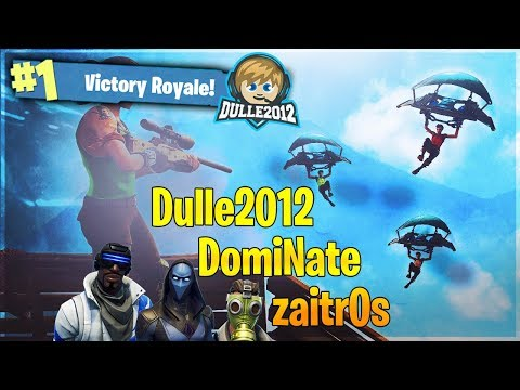 🔴 Lirar med DomiNate och zaitr0s😄 // 5 year old gamer // 64 wins // Fortnite Battle Royale