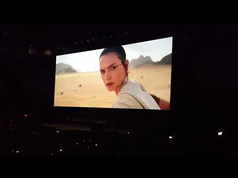 Crowd reaction to Star Wars: The Rise of Skywalker teaser at Celebration
