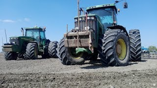 Siew Kukurydzy na 3 siewniki ||Wielka Skala|| 700ha |4x John Deere| i ||1xDeutz-Fahr|| |OHZ Garzyn|