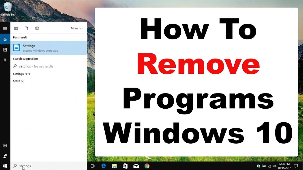 windows 10 remove programs