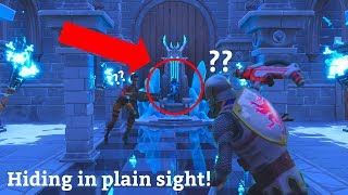 I used the Shaolin Sit-Up Emote in the Ice King's Throne and Hid in Plain Sight! (Fortnite)
