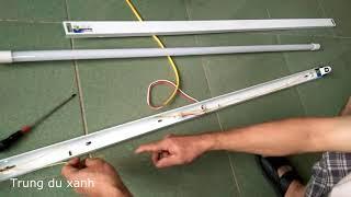 Chuyển đổi máng đèn tuýp huỳnh quang sang tuýp led dễ dàng