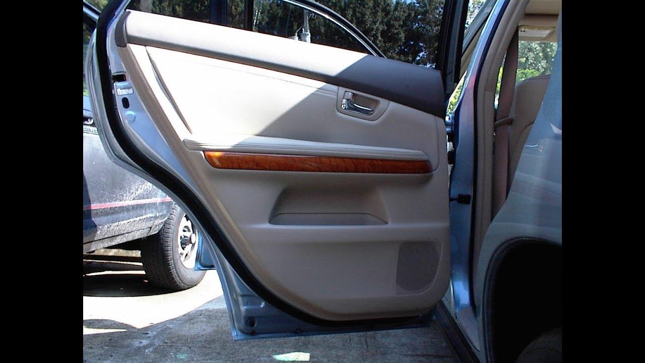 Lexus Rx330 Speaker Removal Rear Door Youtube 2005 Floor Mats