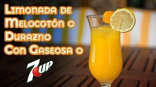 Limonada de Melocotón o Durazno Con Gaseosa o 7Up