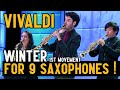 Download Vivaldi for 9 Saxophones (Winter / Four Seasons) MP3 song and Music Video