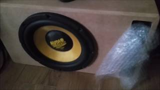 Audio system 12-600 12 inch Subwoofer Bass test