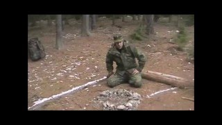 Rozdělávání ohně v lese - poučení (Making fires in the forest - lessons)