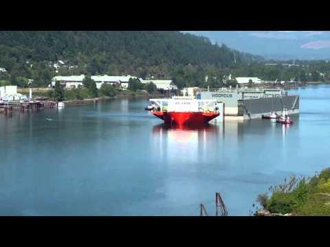 MV Blue Marlin Offloads Vigorous Drydock