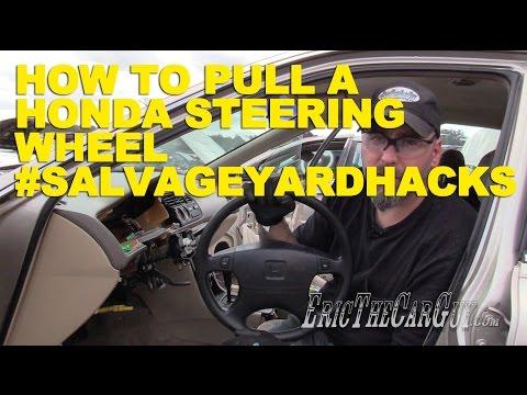 How To Pull a Honda Steering Wheel #SalvageYardHacks