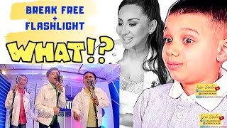 Vocal Coach REACTS to TNT Boys BREAK FREE / FLASHLIGHT  | Lucia Sinatra & Son