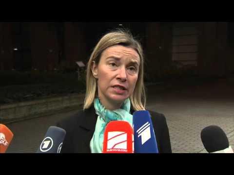 Foreign Affairs Council: EU High Representative Federica Mogherini