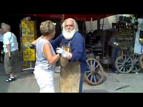 Happy Blacksmith Dancing - Santa Claus in Cetinje