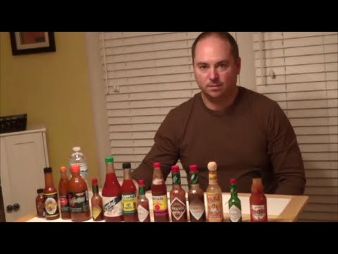 Dad eats 14 hot sauces, Ghost pepper & Moruga Scorpion puree : Crude Brothers
