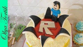 Детский торт РОБЛОКС Roblox Cake Как выровнять торт КРЕМОМ ЧИЗ