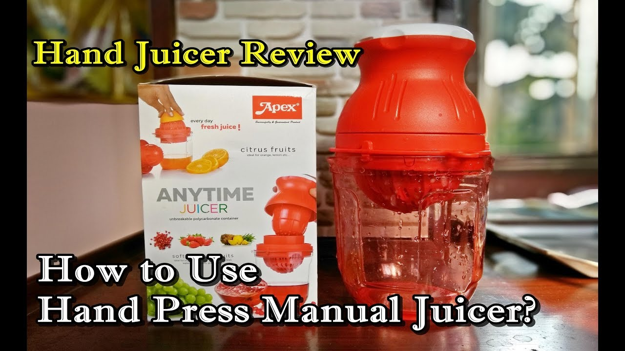 Hand Juicer Review | How to Use Hand Press Juicer? Flipkart Nano Hand Press  Juicer