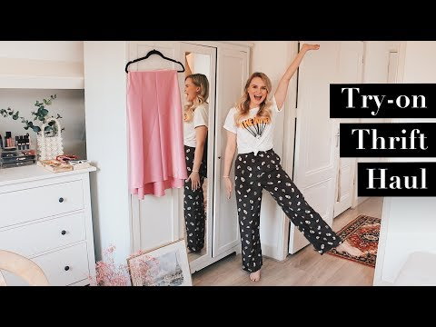THRIFT HAUL TRY ON + HOW I STYLE THEM | HOMEWARE, LEVIS + FASHION | ANDREACLARE