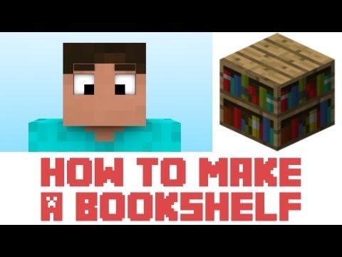 Minecraft How To Make A Bookshelf In Minecraft Youtube
