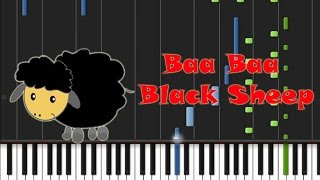 Baa Baa Black Sheep - Theme Song [Synthesia Tutorial]