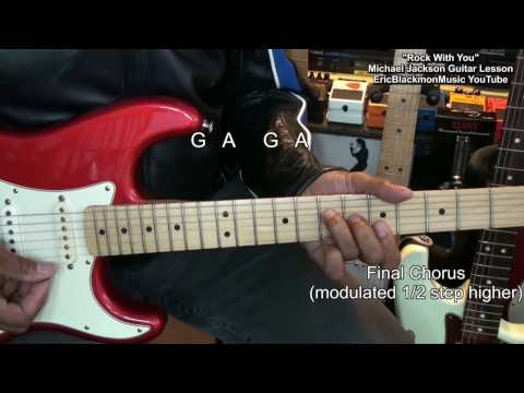 How To Play Michael Jackson ROCK WITH YOU Detailed Guitar Lesson EricBlackmonGuitar