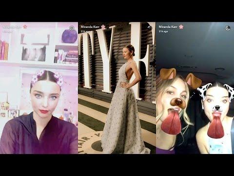 Miranda Kerr ► Snapchat Story ◄ 27 February 2017 [Vanity Fair Oscar After Party]