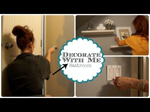 DECORATE WITH ME - Downstairs Bathroom!