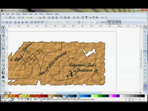 Byteweiser Inkscape Tutorial #6: Pirate Treasure Map