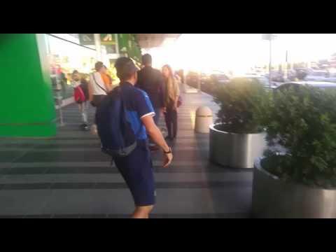 Florenzi arriva a Fiumicino, 09.06.16