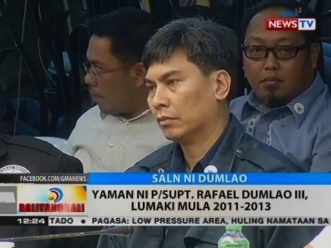 Yaman ni P/Supt. Rafael Dumlao III, lumaki mula 2011-2013