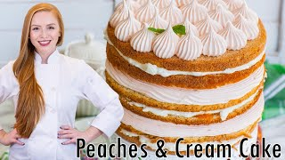 Peaches & Cream Zefir Torte