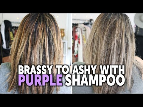 how-to-tone-brassy-hair-with-purple-shampoo---drugstore-purple-shampoo-before-and-after