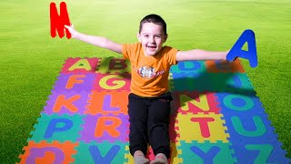 ABC Alphabet Phonics song with Nart. Nart learn English to the alphabet song | Kids songs