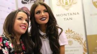 Vistors at the Montana Tan stand and Chloe Sims at the Scottish Beauty Show Thumbnail