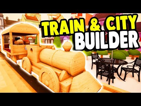 WOODEN TRAIN SET BUILDER & All New City Built | Tracks Gameplay