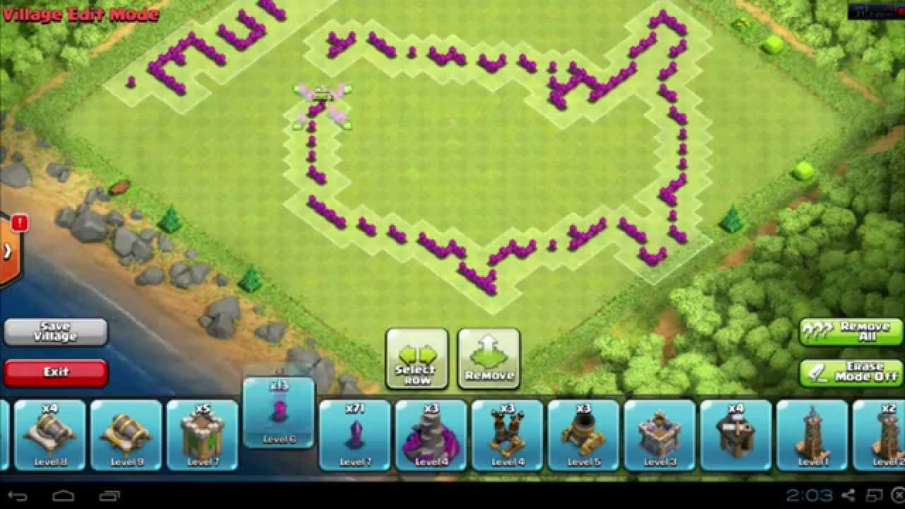 Coc th8 base design - Clash Of Clans America Funny Base Layout Speed Build Designs Th8