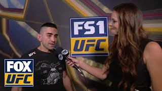 Ricardo Lamas speaks after TKO victory | INTERVIEW | UFC FIGHT NIGHT