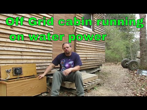 Water Generator Running Off Grid Cabin