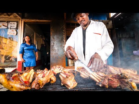 Kenyan Street Food - HUGE GRILLED MEAT (Nyama Choma) Tour in Nairobi, Kenya | African Food!