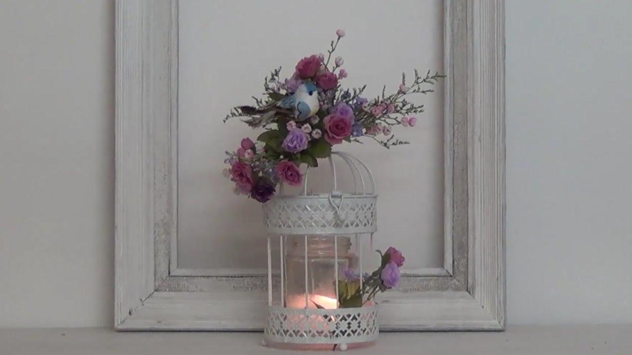 Decoraci n rom ntica jaula con flores youtube - Decoracion con jaulas ...