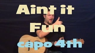 Ain't It Fun (Paramore) Easy Guitar Lesson How To Play Tutorial Capo 4th