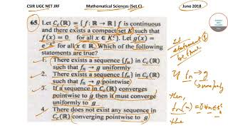 #MATHEMATICAL SCIENCES #SET C #CSIR #UGC #NET #JUNE #2018 #QUESTION 65 WITH SOLUTION 9836793076